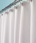 York Fabric Shower Curtain - White