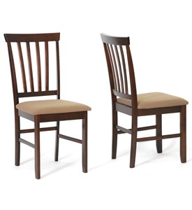 Tiffany Brown Wood Modern Dining Chairs - Set of 2 by Wholesale Interiors Image