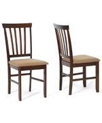 Tiffany Brown Wood Modern Dining Chairs - Set of 2 by Wholesale Interiors