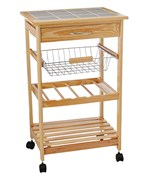 Tile Top Kitchen Cart with Baskets by Neu Home