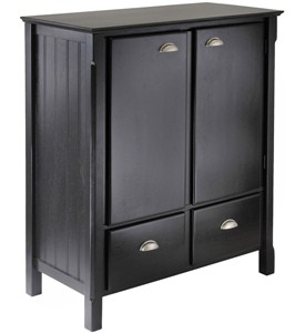Timber Cabinet with Drawers - Black Image