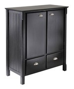 Timber Cabinet with Drawers - Black