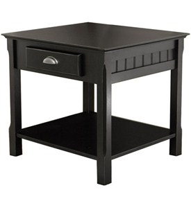 Timber End Table - Black Image