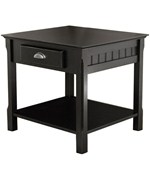 Timber End Table - Black