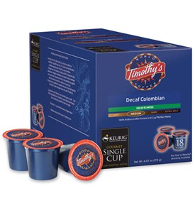 Timothys Decaf Colombian Coffee K-Cups (Set of 18) Image