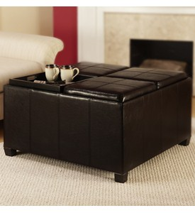 Times Square Ottoman with Four Tray Tops by Convenience Concepts Image