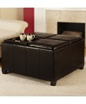 Times Square Ottoman with Four Tray Tops by Convenience Concepts