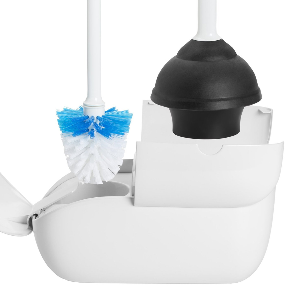 Toilet Brush and Plunger Caddy - Free Shipping