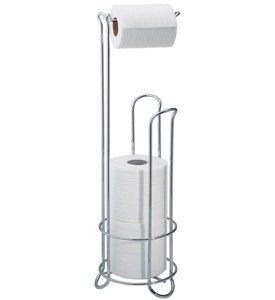 Toilet Paper Holder Stand - Chrome Image