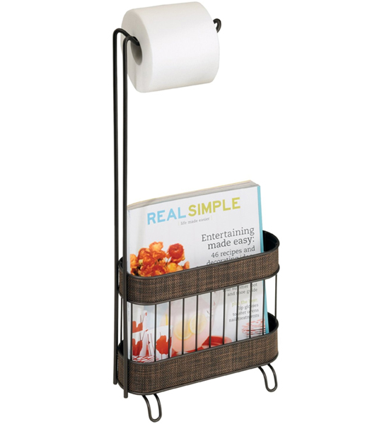 Bathroom Toilet Paper Stand Part - 42: Toilet Paper Magazine Holder Image