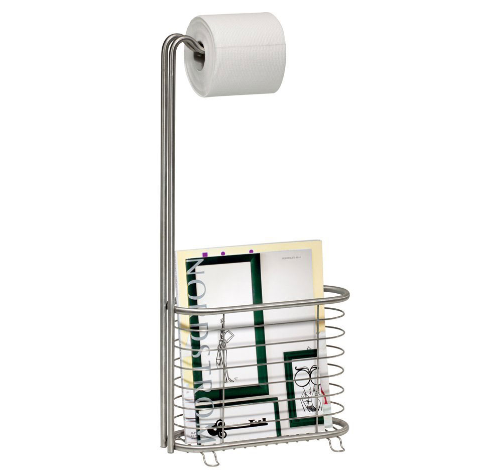 Toilet Paper Magazine Stand Stainless Steel In Bathroom