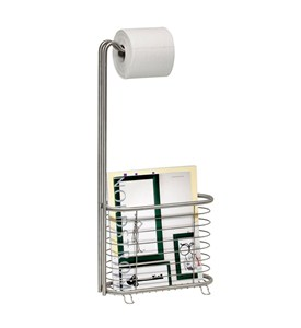 Toilet Paper Magazine Stand - Stainless Steel Image