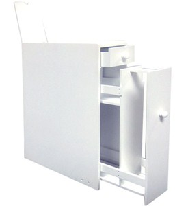 Toilet Paper Storage Cabinet - White Image