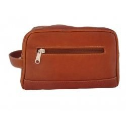 Zip-Top Leather Toiletry Kit Image
