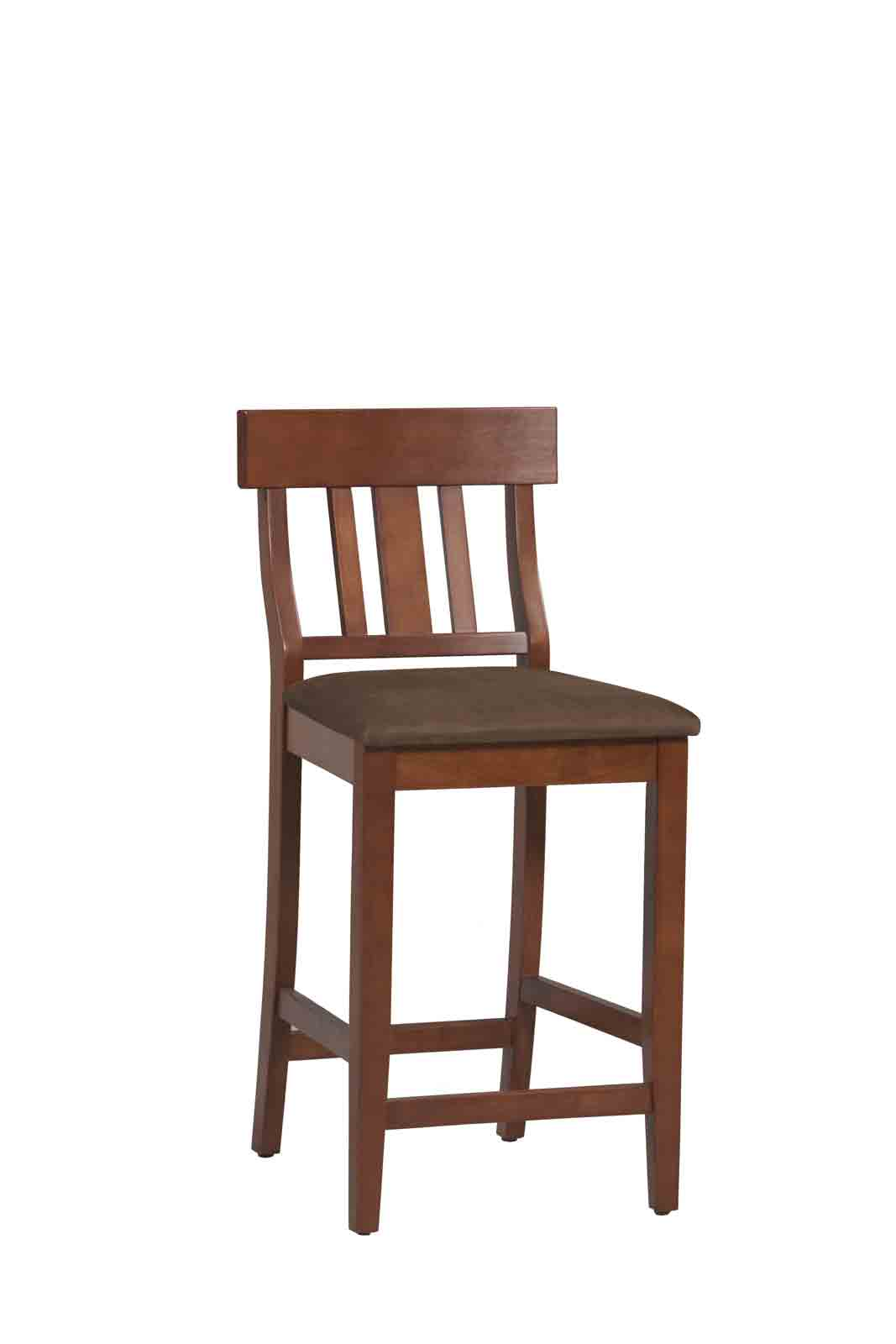 Torino Collection Slat Back Counter Stool By Linon In Wood