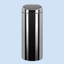 30 Liter Narrow Touch Bin in Stainless Steel Trash Cans