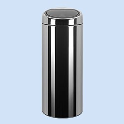 30 liter narrow touch bin in stainless steel trash cans. Black Bedroom Furniture Sets. Home Design Ideas