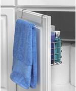 Towel Rack With Basket, Over Cabinet