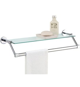 Towel Rack with Shelf - Glass Image