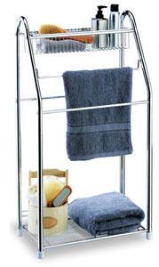 chrome towel stand in free standing towel racks. Black Bedroom Furniture Sets. Home Design Ideas