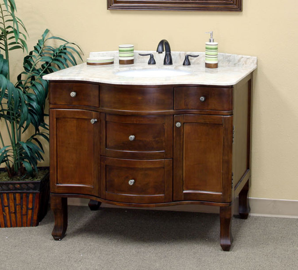 Traditional 38 2 Inch Single Sink Vanity And Cabinet In