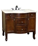 Traditional 38.2 Inch Single Sink Vanity and Cabinet