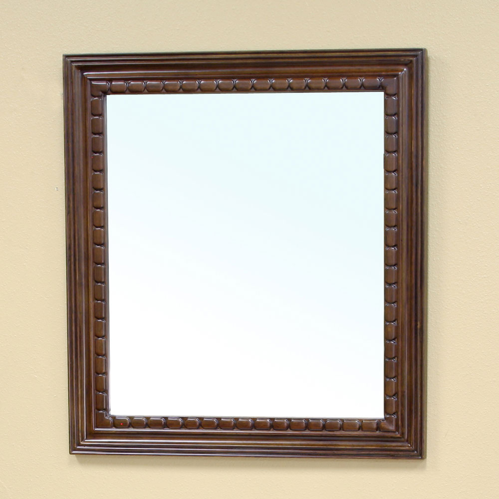 Traditional solid wood frame mirror by bellaterra home in for Traditional mirror