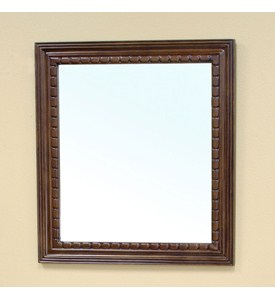 Traditional Solid Wood Frame Mirror by Bellaterra Home Image