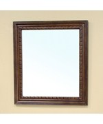 Traditional Solid Wood Frame Mirror by Bellaterra Home
