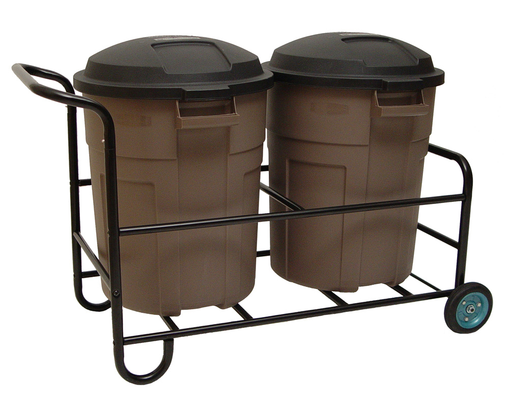 Garbage Can Cart In Outdoor Trash Cans