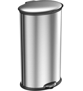 Trash Receptacle - Oval Stainless Steel 30L Image