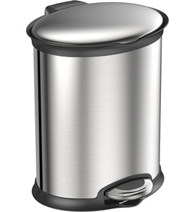 Trash Receptacle - Oval Stainless Steel 5L Image