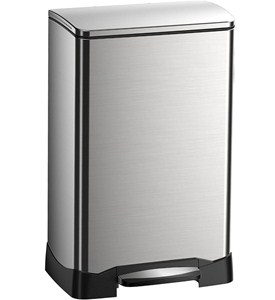 Trash Receptacle - Rectangular Stainless Steel 40L Image
