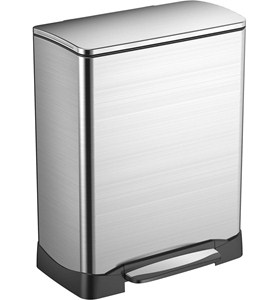 Trash Receptacle - Rectangular Stainless Steel 50L Image