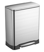 Trash Receptacle - Rectangular Stainless Steel 50L