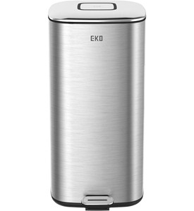 Trash Receptacle - Square Stainless Steel 32L Image