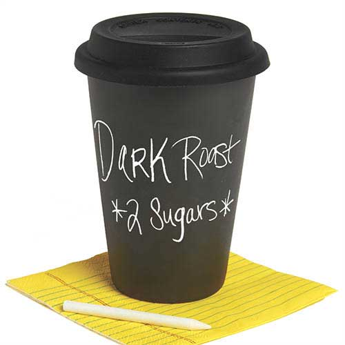 Travel Cup Black Chalkboard In Travel Mugs
