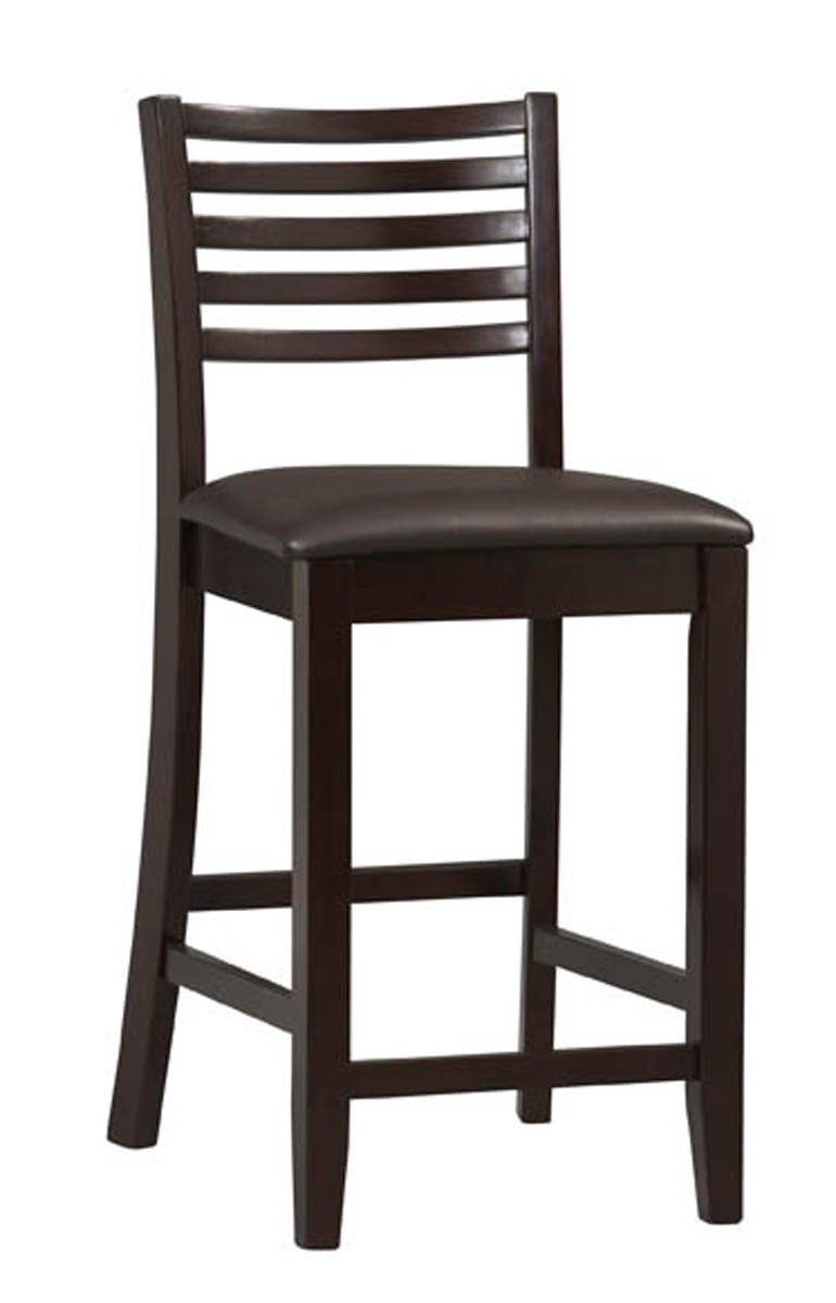 Triena 24 Inch Ladder Counter Stool In Wood Bar Stools
