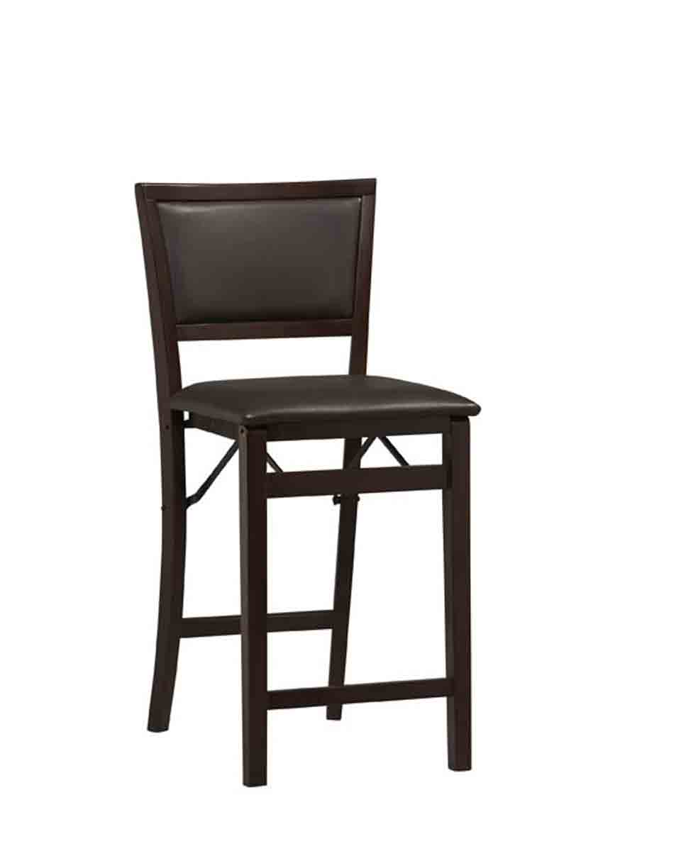 Folding Counter Stool With Pad Back In Counter Height Bar