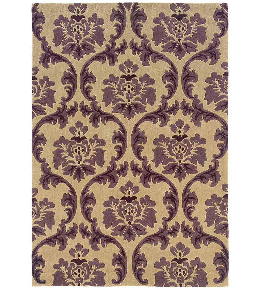 Damask Rugs Trio Collection Damask Area Rug In Patterned Rugs