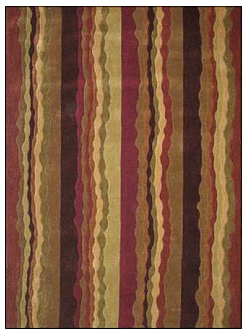Trio collection rug stripe in patterned rugs for Home accents rug collection