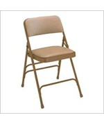 Triple Brace Vinyl Folding Chairs