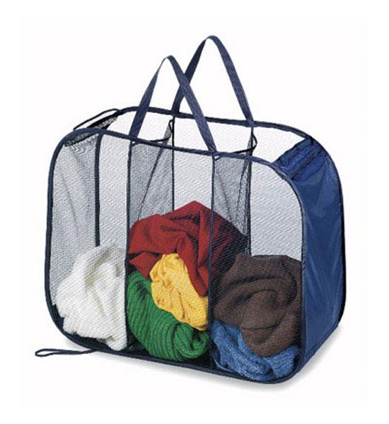 Triple Laundry Sorter Folding In Laundry Sorters