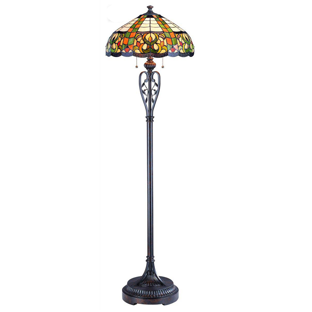 tryphena tiffany style floor lamp by lite source ls With tryphena tiffany floor lamp