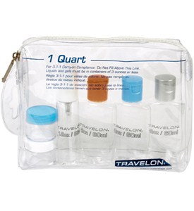 TSA Travel Bottles Kit with Travel Bottle Bag Image