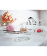 Expandable Bathtub Caddy - Chrome