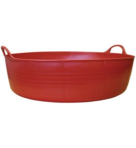 Large Shallow Tubtrugs Storage Tub - Red Image