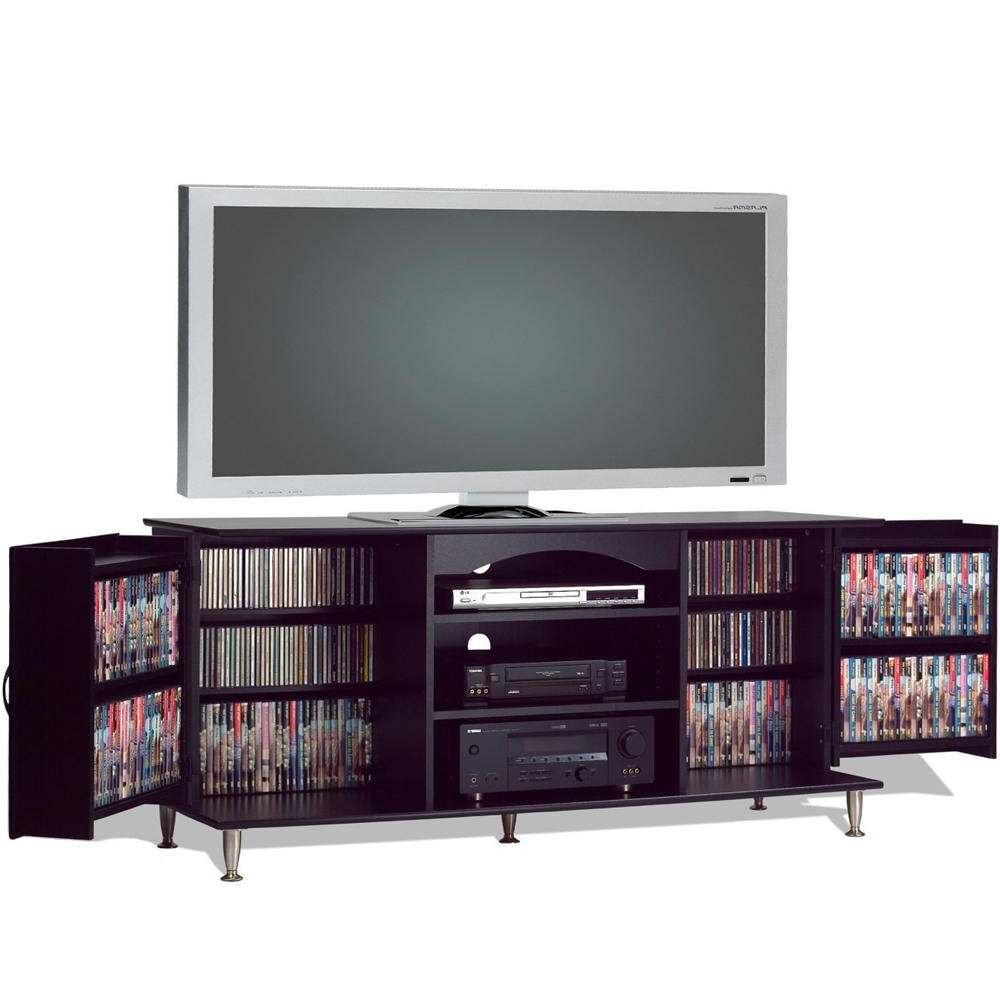 tv console with media storage in tv stands