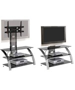 TV Furniture Mount System - Brushed Nickel