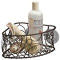 Twigz Suction Corner Bath Basket - Bronze
